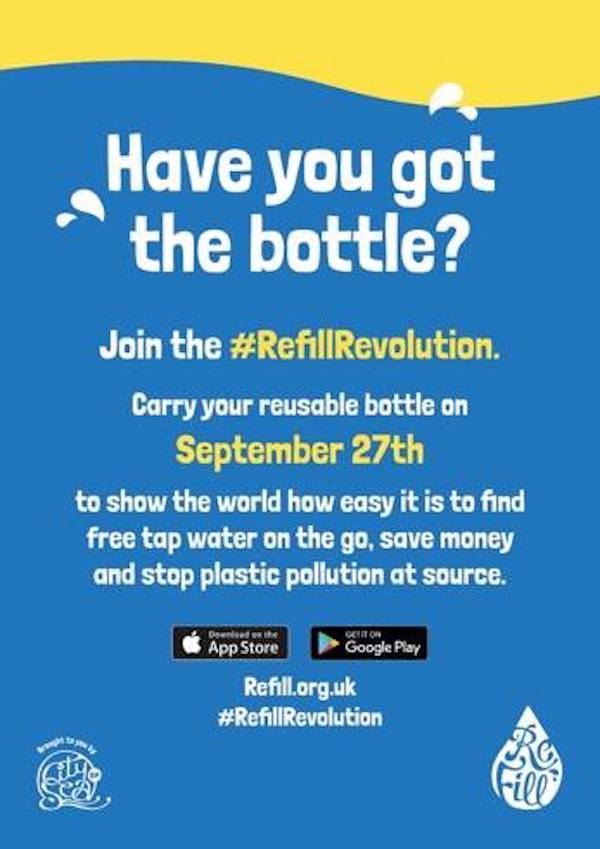 Refill for free and cut your plastic waste further