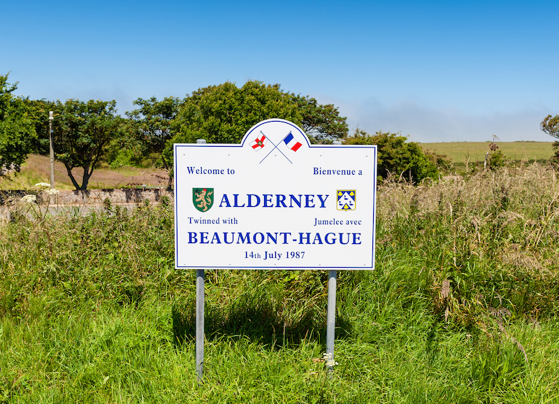 alderney airport sign
