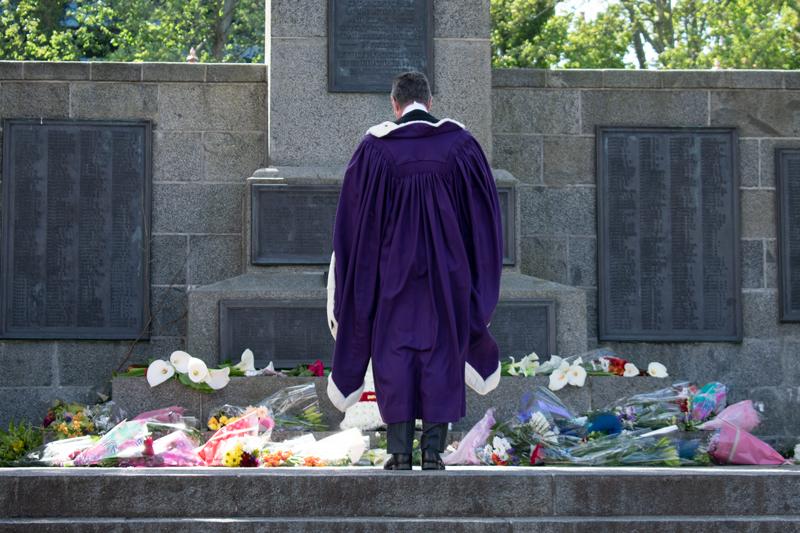 Richard McMahon Wreath Laying War Memorial