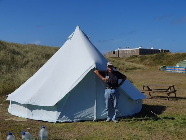 Saye campsite Colin Page Alderney resident