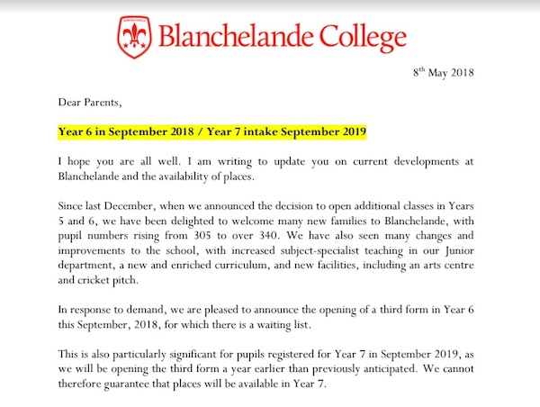 Blanchelande expands due to increasing demand for private education