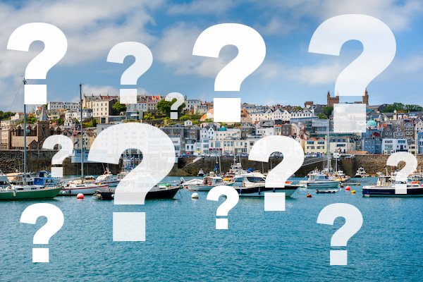 st Peter port question marks