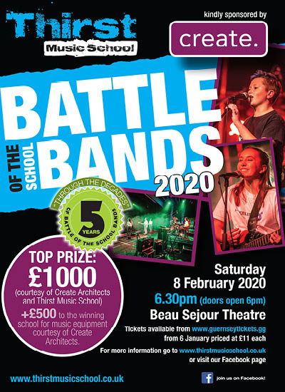 Battle of the School Bands 2020 poster