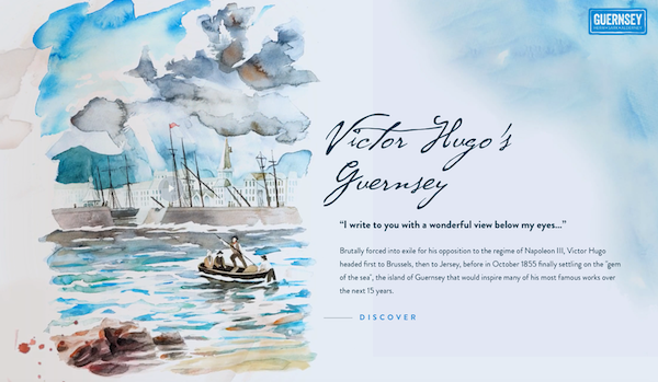 Victor Hugo VisitGuernsey website