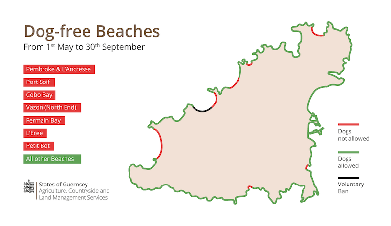 Dog Beach restrictions map 2019