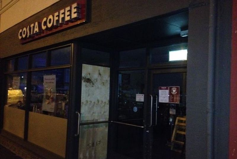 Damage caused to Costa Coffee Shop