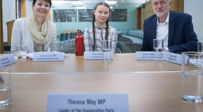 PM 'empty-chaired' as teenage climate activist comes to Westminster