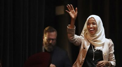 Ilhan Omar greeted at the airport with chants of 'welcome home' by supporters