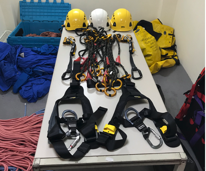 Cliff Rescue Team receives new equipment donation