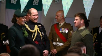 Irish Guard savaged by buffalo tells Duke of Cambridge of ordeal
