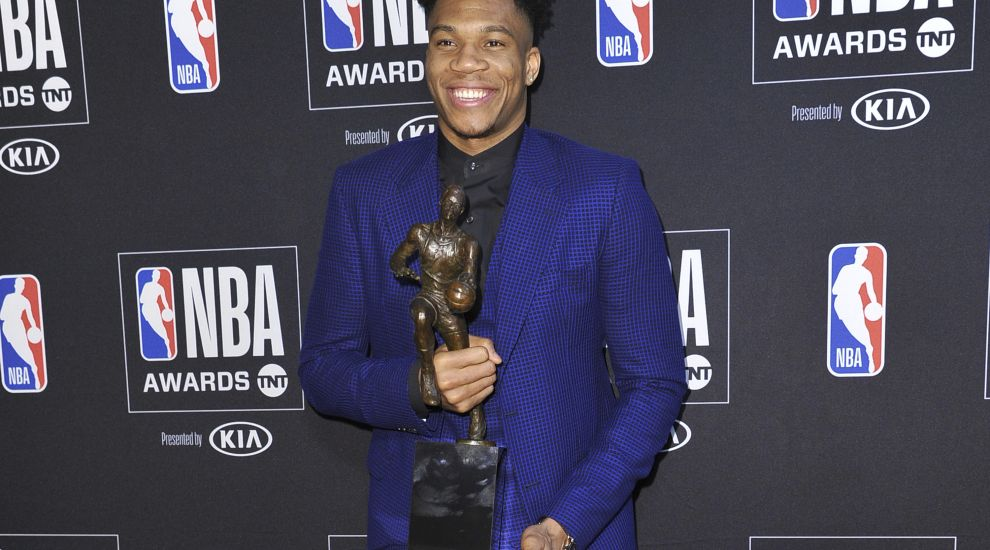 Emotional Giannis Antetokounmpo named NBA Most Valuable Player