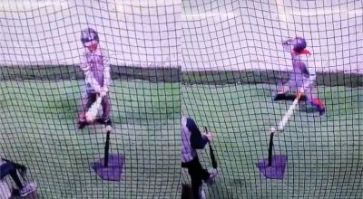 Watch: Boy's 'priceless' reaction as his tee-ball shot lands back on the tee