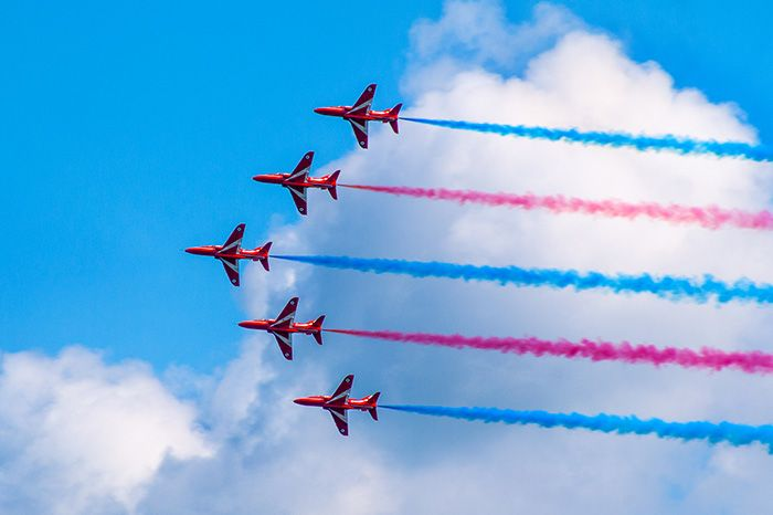 Red arrows to take to the skies