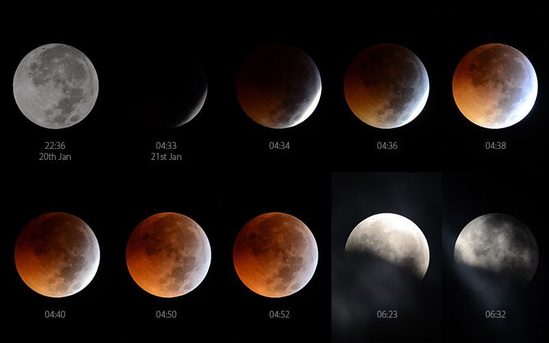 Stunning lunar eclipse caught on camera