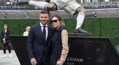 David Beckham sees funny side after James Corden's fake statue prank