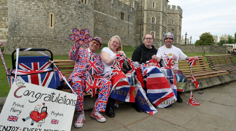 Royal fans stake out territory for perfect view of Harry and Meghan
