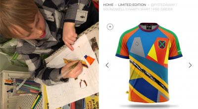 Five-year-old sees football kit design come to life for charity