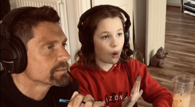 Dad and daughter become cricket co-commentary stars in creative homeschooling