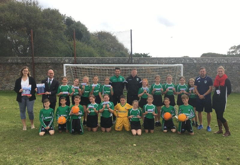 A free football match for island's school children