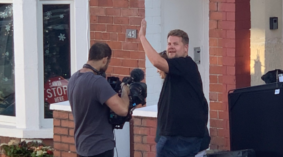 James Corden spotted filming for the Christmas special of Gavin & Stacey