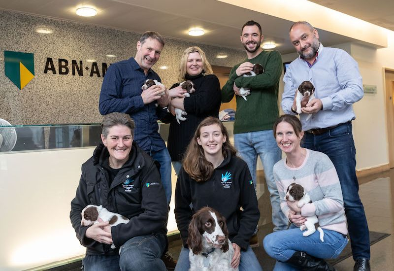 ABN AMRO provides uniforms for Paws for Support