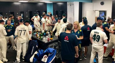 'That's what it's all about': England and Australia toast the Ashes together