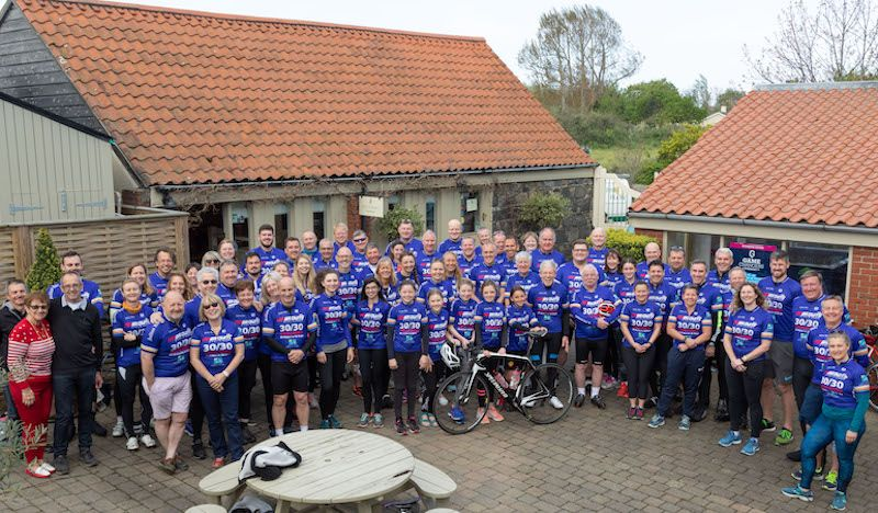 Keen cyclists take on 30 rides in 30 days